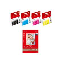 Canon CLI-821 BK/C/M/Y Ink Tanks (4pcs) + 4R Photo Paper (20 Sheets) (for 988) - $82.99