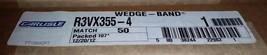 ONE CARLISLE R3VX355-4 Wedge Band Belt - $78.21