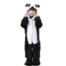 Kid's Kigurumi Pajamas Panda Onesie Pajamas Flannel Fabric Black / White... - $28.00