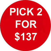MON-TUES ANY 2 IN STORE FOR $137 INCLUDES ALL LISTINGS BEST OFFERS DEAL - $0.00