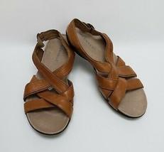Merrell Shoes Sandals Buckle Crisscross Tan Womens SIze US 9 EU 40 - $44.50