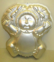 Vintage Cake Pan Cabbage Patch Kids Birthday Party Metal  80s Era Wilton - $18.61