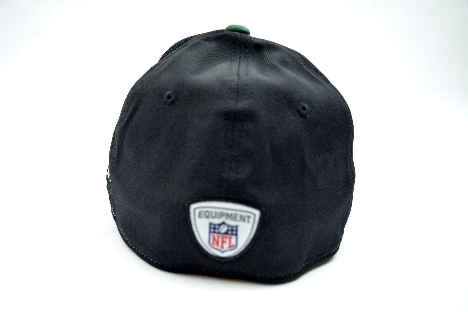 bcfb331d178 New York Jets Reebok NFL Sideline Workout Warrior Stretch Fit Cap Hat Sm Med