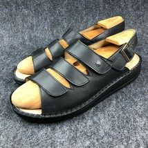 Finn Comfort Sylt Soft Sandals Black Nappa Leather, Size 44, WO's 13, Mn... - $227.69
