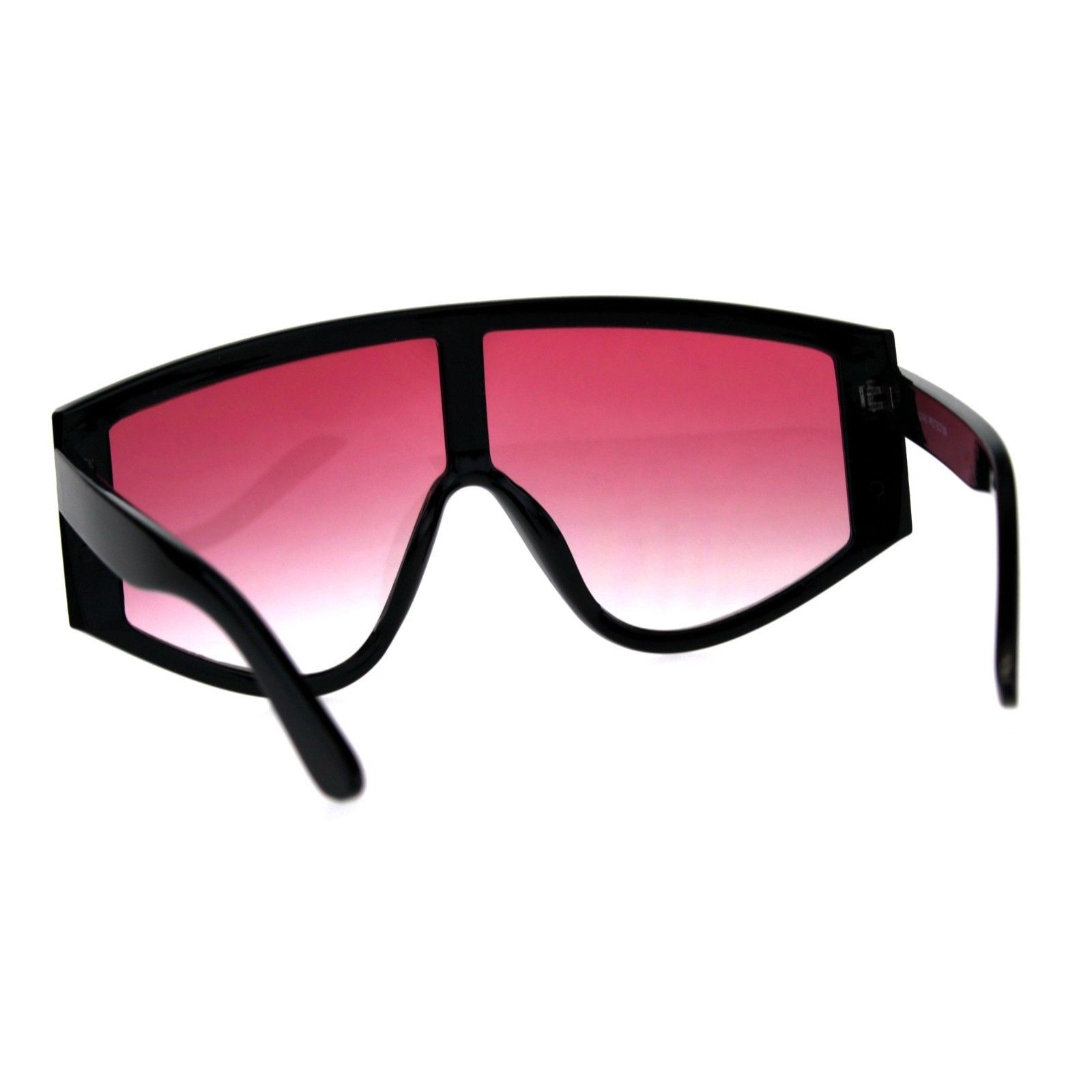Super Oversized Goggle Style Sunglasses Arched Top Shield Fashion Shades