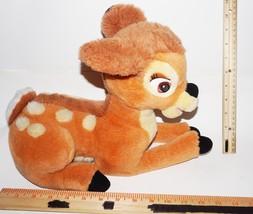 Bambi Deer Plush Stuffed Animal Toy Figure - Vintage Walt Disney Used - $8.88