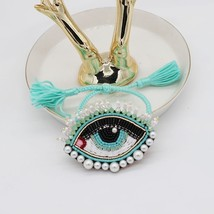 Fashion trend handmade custom pearl big eyes rice beads crystal tassel e... - $27.08