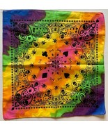 "12 Pack Tie Dye Rainbow Pirate Cards Multi Color Cotton Bandana 22x22"" B... - $29.88"