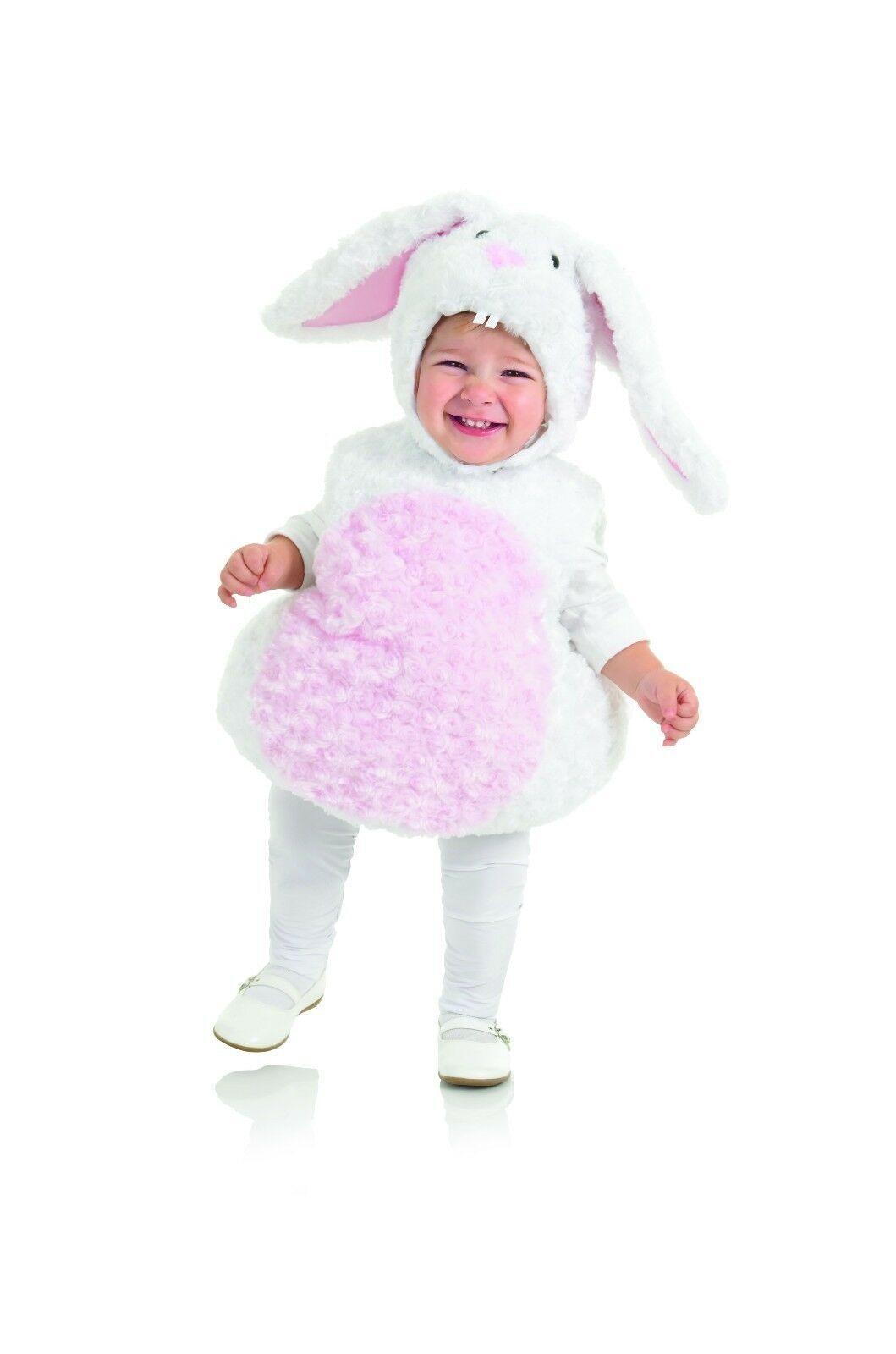 Underwraps White Rabbit Belly Babies Animal Cuddly Child Halloween Costume 25820
