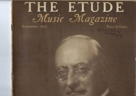 Vintage 1935 copy THE ETUDE MUSIC MAGAZINE -- a Tribute to Herbert Withe... - $8.50