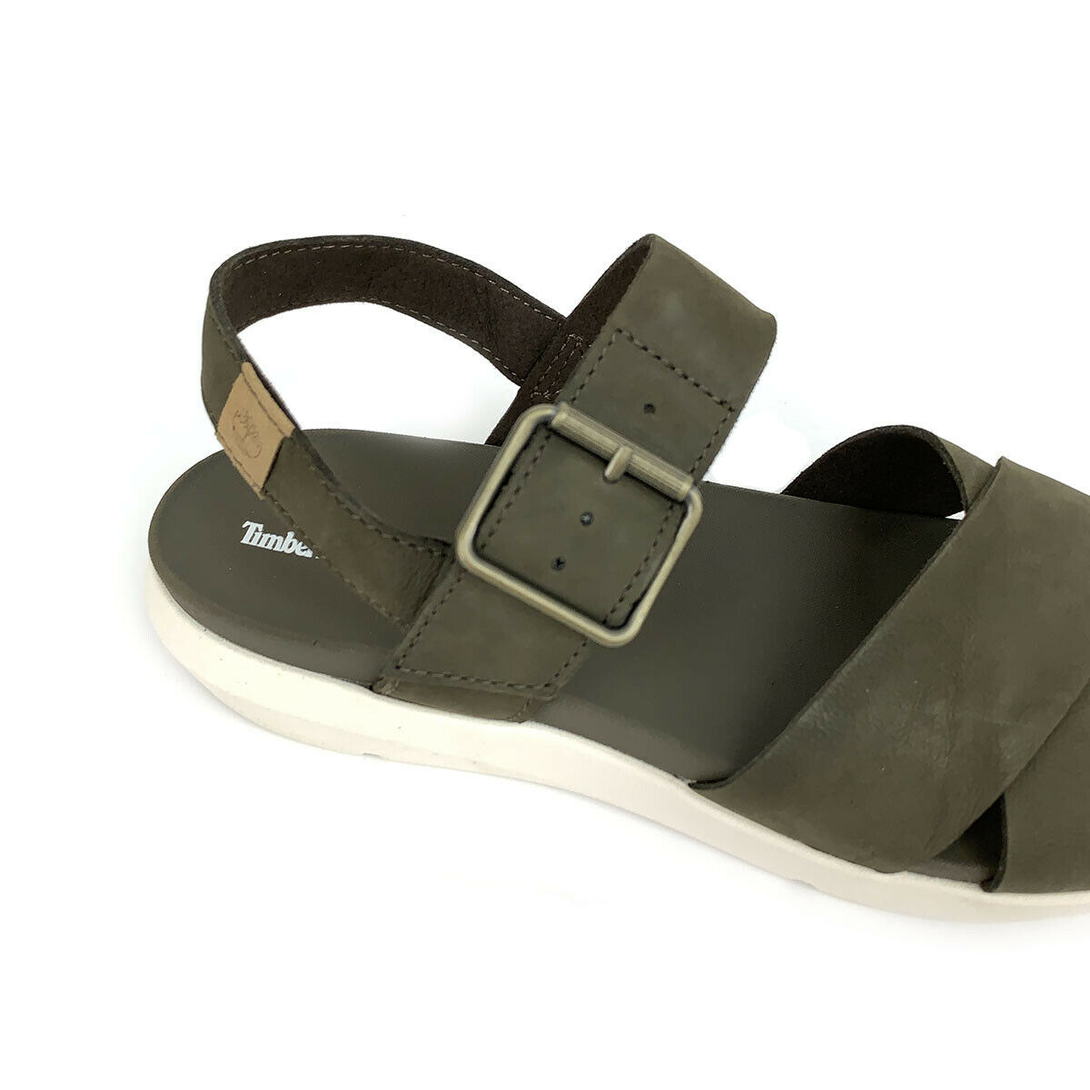 Timberland Women's Wilesport Olive Green Leather Strap Sandals A1TSW image 6