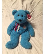 TY Beanie Buddies Buddy Addison All American Baseball Blue Bear Plush Toy - $5.65