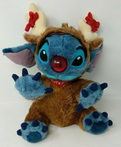 Disney Store Parks Lilo & Stitch Reindeer Costume Stuffed Plush Christmas VTG - $29.69