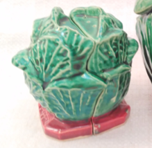 McCoy Majolica Cabbage Salt and Pepper Shakers - $34.99