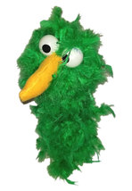"C15 * Deluxe Custom ""Shamrock Green Bird""  Sock Puppet * Custom Made - $10.00"