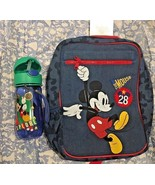 New Disney Mickey Mouse small Backpack + Water Bottle - $55.42