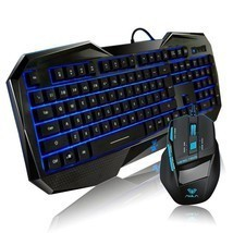 Gaming Mouse And Keyboard Combo Wired Usb Desktop PC Computer Ergonomic ... - $915,69 MXN