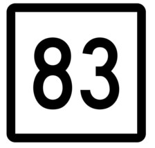 Connecticut State Highway 83 Sticker Decal R5112 Highway Route Sign - $1.45+