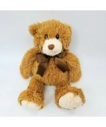 "14"" First Impressions Bear Brown Cream Macys 2012  Plush Stuffed Toy B350 - $19.99"