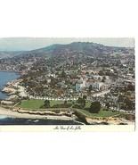 Post Card CA La Jolla, California Hotel La Valencia AIR VIEW Residential... - $9.85