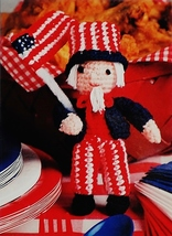 Annie's Uncle Sam Doll Crochet Pattern Leaflet July/August 1990 - $5.80