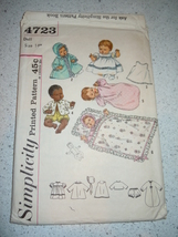 """Vintage Simplicity 14"""" Doll Clothes & Accessories  #4723 - $8.99"""
