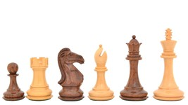 "Romeo Weighted Wooden Chess Pieces in Sheesham & Box Wood - 4.1"" King -SKU:VJ023 - $215.99"