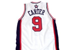Vince Carter #9 Team USA BasketBall Jersey White Any Size image 4