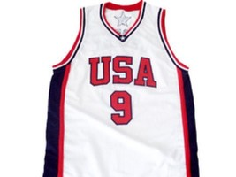 Vince Carter #9 Team USA BasketBall Jersey White Any Size image 5