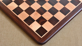"""Wood chess board in Rose / Box Wood from India 17"""" - 45 mm squares. S1206 - $223.99"""