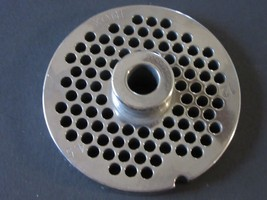 "#12 x 1/8"" w/ HUB STAINLESS Meat Grinder Mincer plate disc screen 2 3/4"" dia - $18.38"