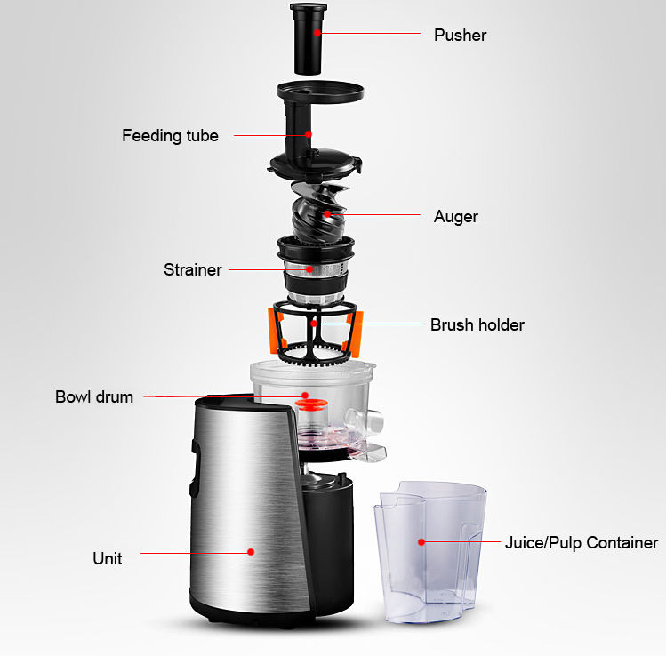 Sensio Juicer Slow Juicer Review : SlowStar Low Speed vertical Juicer with Mincer 220-240v - Juicers