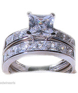 3.75 Ct Princess Cut Cz Wedding Engagement Ring... - $19.99