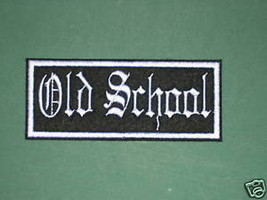 BIKER OLD SCHOOL PATCH DESIGN YOUR OWN CHOOSE COLORS Background + Font 4... - $5.99