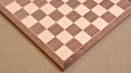"Standard Walnut Maple Wooden Chess Board with Notation 18"" - 50 mm - SKU: B1017 - $208.99"