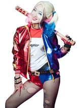 Suicide Squad Halloween Cosplay  Costume Harley Quinn Outfit Suits - $129.99