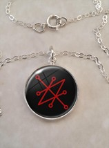 Sterling Silver 925 Pendant Necklace Sigil of Saturn Azazel Satanel Sata... - $30.50+