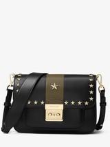 Michael Kors Sloan Editor Studded Black/Olive Leather Push-Lock Shoulder... - $799.99