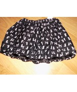 Girl's Size Small 5-6 The Children's Place Black White Poodle Dog Print ... - $14.00
