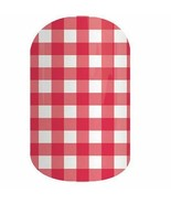 Jamberry Strawberry Gingham PL15 Nail Wrap Full Sheet - $9.89