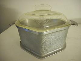 Vintage Guardian Service Ware Aluminum Stock Pot Triangle Roaster Glass ... - $32.66