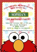 Elmo invitation birthday baby shower personalized PRINTABLE sesame stree... - £5.46 GBP