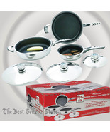 6pc High-Quality, Heavy-Gauge Stainless Steel Non-Stick Skillet Set Warr... - $109.98