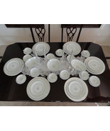 Mid-Century Noritake China Chaumont Pattern 6008 Platinum Rim 44 Piece D... - $300.00
