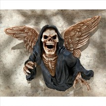 Specter of Death Grim Reaper Winged Cloaked Skeleton Halloween Wall Deco... - ₨8,994.34 INR