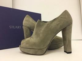 Stuart Weitzman Altamira Rock Suede Women's Platform Heels Bootie Pumps ... - $123.35