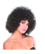 Black Solid Color Foxy Afro Wig Rave Burning Man Festival EDC - £14.09 GBP