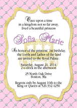 PRINTABLE pink and gold royal princess baby shower invitation, personalized - £7.32 GBP