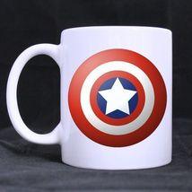 Captain america Shield Custom Personalized Coffee Tea White Mug - $13.99
