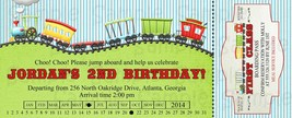 PRINTABLE Train boarding pass birthday or baby shower invitation, person... - $9.99